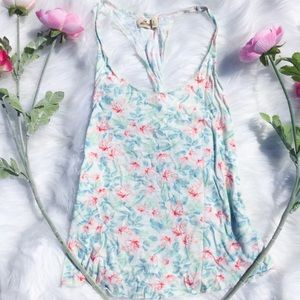 Hollister Pastel Tank Floral Light Small Twist Top